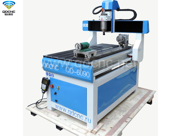 QD-6090R CNC Router with Rotary